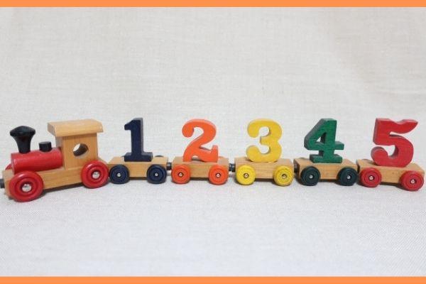 数字の汽車
