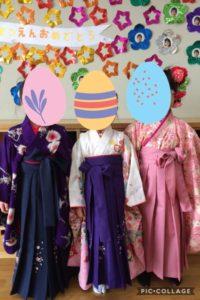 卒園式の袴3人